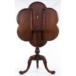View 3: Mahogany Pie Crust Tilt-top Table