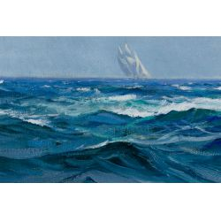 """View 3: Charles Vickery (American, 1913-1998) """"Steady Wind"""" Oil on Canvas"""