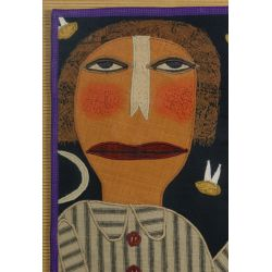 "View 2: Chris Roberts-Antieau (American, b.1950) ""Catching Fireflies"" Tapestry"
