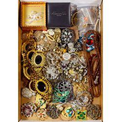 View 3: Rhinestone and Costume Jewelry Assortment