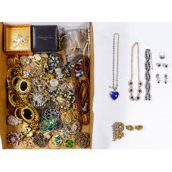 View 2: Rhinestone and Costume Jewelry Assortment