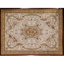 View 2: Aubusson Wool Needlepoint Rug
