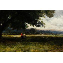 """View 3: Edmund Morrison Wimperis (English, 1835-1900) """"Summer Landscape After Rain"""" Oil on Canvas"""