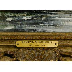 """View 6: Edmund Morrison Wimperis (English, 1835-1900) """"Summer Landscape After Rain"""" Oil on Canvas"""