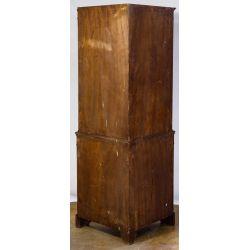 View 2: Mahogany Double Door Corner Cabinet