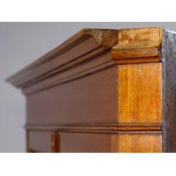 View 3: Mahogany Double Door Corner Cabinet