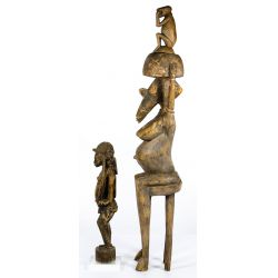 View 2: African Carved Wood Figurines