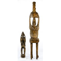 View 3: African Carved Wood Figurines