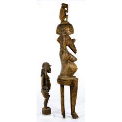 View 4: African Carved Wood Figurines