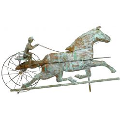 View 4: Copper Trotting Horse Weathervane