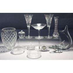 View 4: Waterford, St. Louis and Daum Crystal Assortment