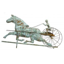 View 3: Copper Trotting Horse Weathervane