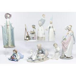 View 2: Lladro and Armani Figurine Assortment
