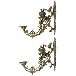 View 2: Neoclassical Style Bronze Wall Sconces