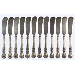"View 6: Gorham ""Buckingham"" Sterling Silver Flatware Service"