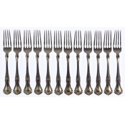 "View 7: Gorham ""Buckingham"" Sterling Silver Flatware Service"