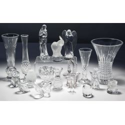 View 2: Lalique, Baccarat, Waterford, Royal Doulton, Herend Assortment