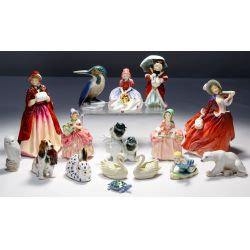 View 3: Lalique, Baccarat, Waterford, Royal Doulton, Herend Assortment