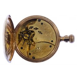 View 4: American Waltham 14k Gold Hunt Case Pocket Watch