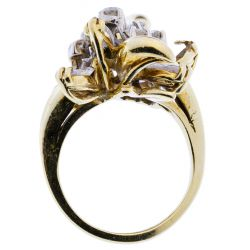 View 3: 18k Gold and Diamond Ring