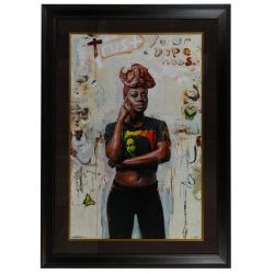 "View 2: Tim Okamura (Canadian, b.1968) ""Trust Your Dopeness"" Giclee Reproduction Print"