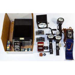 View 3: Camera, Lens and Camera Equipment Assortment