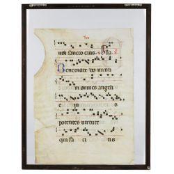 View 2: Illuminated Hymn on Vellum