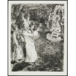 "View 2: (After) Marc Chagall (Russian / French, 1887-1985) ""Moses and Aaron Before The Pharoah"" Etching"