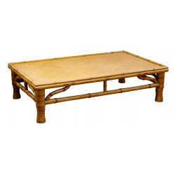 View 3: Chinese Elmwood Coffee Table and Bamboo Console