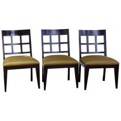 View 2: Berman-Rosetti Fretwork Wood Dining Chair Collection