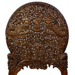View 3: Richard Himmel Carved Burmese Upholstered Side Chair