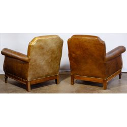 View 2: Mike Bell Leather Club Chairs