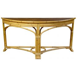 View 2: Chinese Elmwood Coffee Table and Bamboo Console