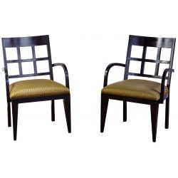 View 4: Berman-Rosetti Fretwork Wood Dining Chair Collection