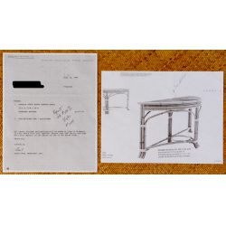 View 5: Chinese Elmwood Coffee Table and Bamboo Console
