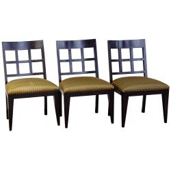 View 3: Berman-Rosetti Fretwork Wood Dining Chair Collection