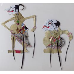 View 2: Indonesian Horn Shadow Puppet Wall Art