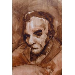 "View 3: Kara Walker (American, b.1969) Untitled (""Lincoln"") Gouache on Paper"