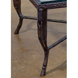 View 3: (Style of) Christopher Chodoff Glass and Bronze Coffee Table