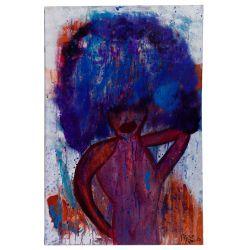 "View 3: Alisa Rawls (American, b.1988) ""Bailadora II"" Acrylics on Canvas"