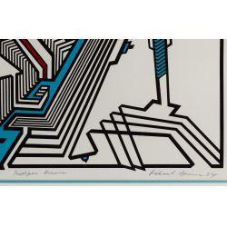 "View 5: Richard Spinner (American, 20th Century) ""Michigan Avenue"" Silkscreen on Paper"