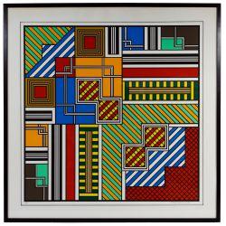 "View 2: Richard Spinner (American, 20th Century) ""Michigan Avenue"" Silkscreen on Paper"