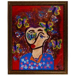 "View 2: Alisa Rawls (American, b.1988) ""Bailadora II"" Acrylics on Canvas"