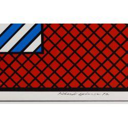 "View 3: Richard Spinner (American, 20th Century) ""Michigan Avenue"" Silkscreen on Paper"