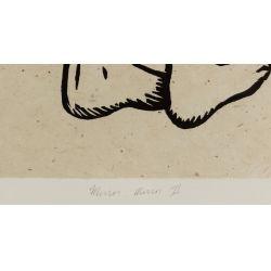 "View 4: Alison Saar (American, b.1956) ""Mirror Mirror II: Mulatta Seeking Inner Negress II"" Woodcut on Chine Colle"