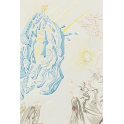 """View 2: Salvador Dali (Spanish, 1904-1989) """"Paradise Canto 26: Dante Recovers His Sight"""" Wood Engraving"""