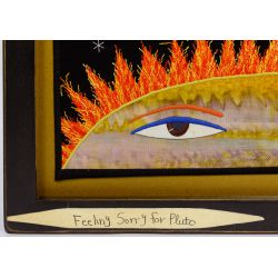 """View 3: Chris Roberts-Antieau (American, b.1950) """"Feeling Sorry for Pluto"""" Tapestry"""