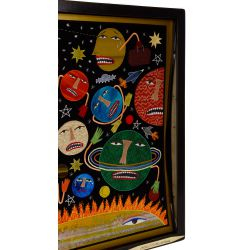 """View 2: Chris Roberts-Antieau (American, b.1950) """"Feeling Sorry for Pluto"""" Tapestry"""