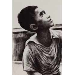 "View 2: Elizabeth Catlett (American / Mexican, 1915-2012) ""Shoe Shine Boy"" Lithograph"