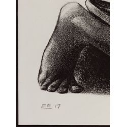 "View 4: Elizabeth Catlett (American / Mexican, 1915-2012) ""Shoe Shine Boy"" Lithograph"